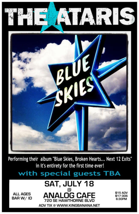 "THE ATARIS ""BLUE SKIES, BROKEN HEARTS"" TOUR 2015"