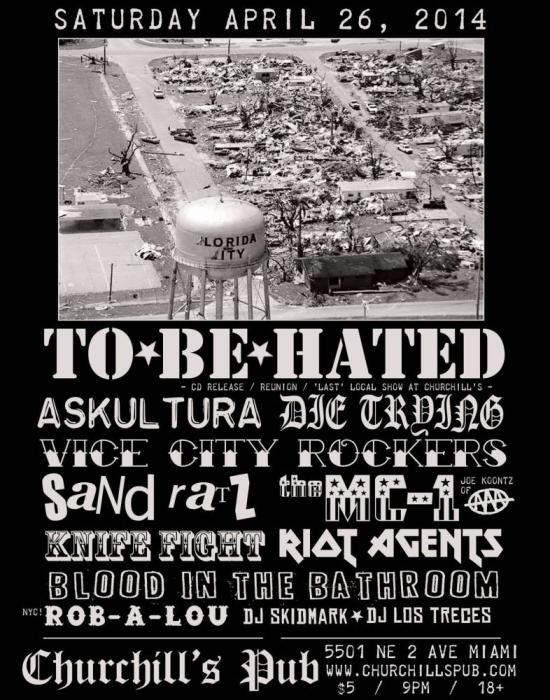 To Be Hated, Askultura, Vice City Rockers, Knife Fight, Die Trying, Riot Agents, Mc1 (Joe Koontz Of -Aaa-), Blood In The Bathroom, Sandratz, Rob -A- Lou (From Nyc!), Dj Skidmark, & Dj Los Treces!