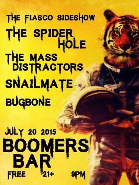 Snailmate (AZ) ~ The Spider Hole (AZ) ~ The Mass Distractors ~ Bugbone