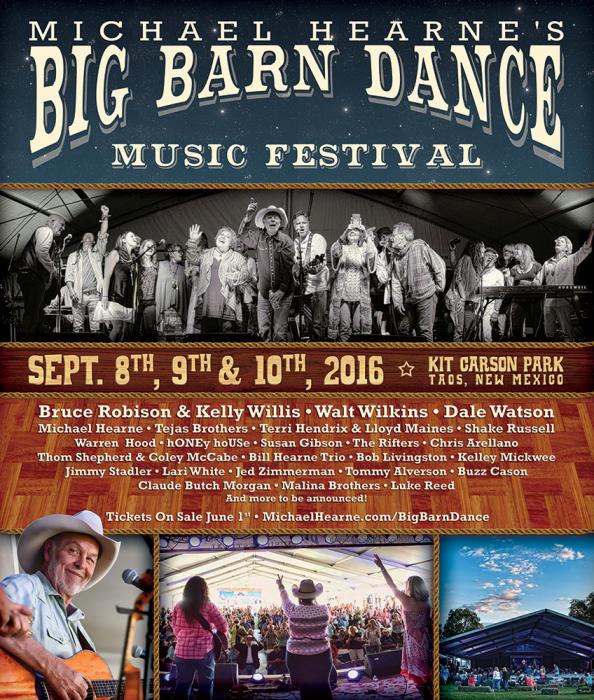 Big Barn Dance Music Festival - Saturday Only September 10th, @ Kit Carson  Park Taos, NM - September 10th 2016 11:00 am