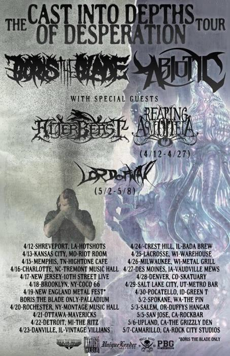 BORIS THE BLADE | ABIOTIC | ALTERBEAST | REAPING ASMODEIA