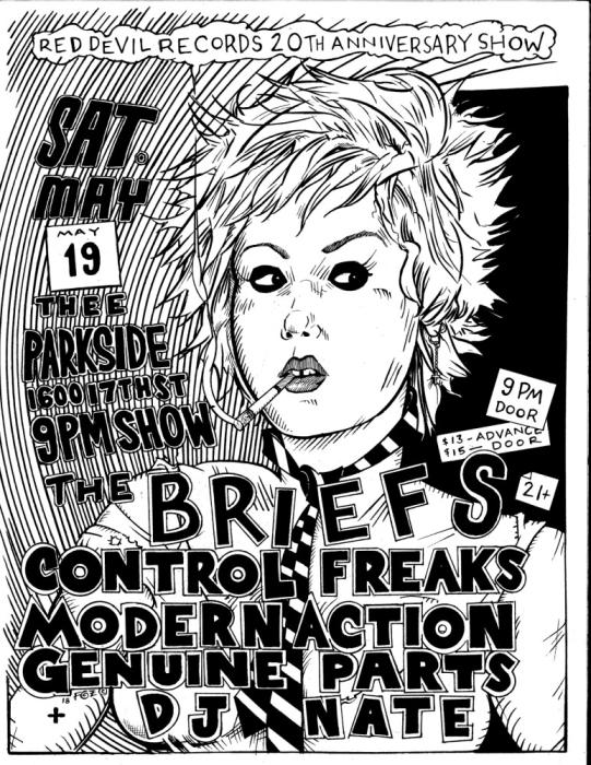The Briefs Control Freaks Modern Action Genuine Parts Red Devil Thee Parkside San Francisco Ca May 19th 2018 9 00 Pm