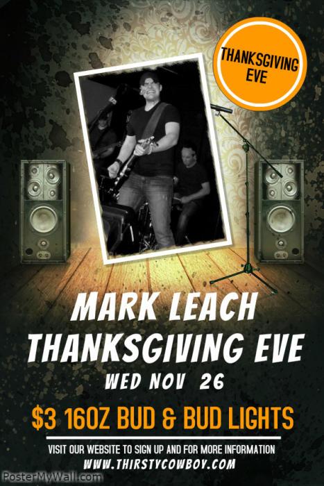Thanks Giving Eve w/ Mark Leach