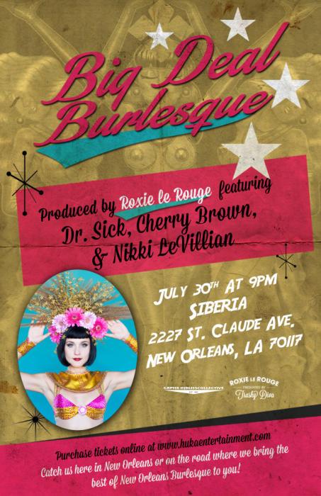 BIG DEAL BURLESQUE - Roxie Le Rouge, Cherry Brown, Nikki LeVillian, & Dr. Sick