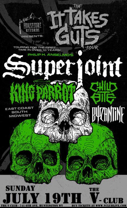 SUPERJOINT / King Parrot / Child Bite / Byzantine