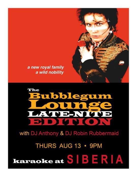 THE BUBBLEGUM LOUNGE Karaoke Night