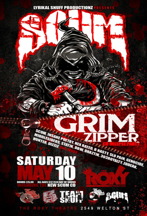 Grim Zipper CD Release Party