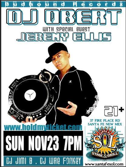 DJ QBERT WITH SPECIAL GUEST JEREMY ELLIS