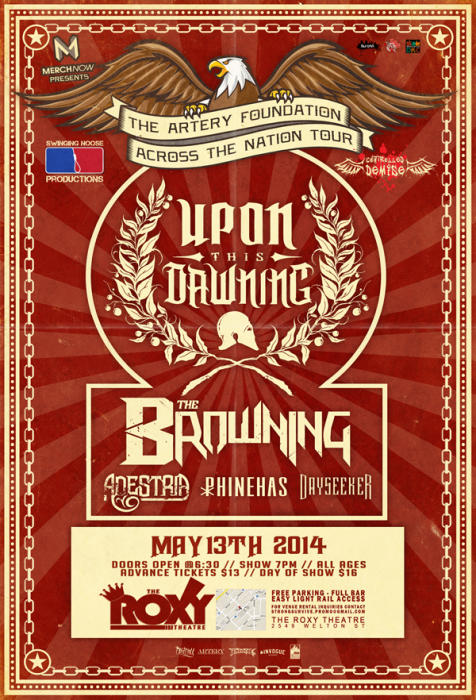 Upon This Dawning W/Special Guests: The Browning, Adestria, Phinneas, Day Seeker and Controlled Demise