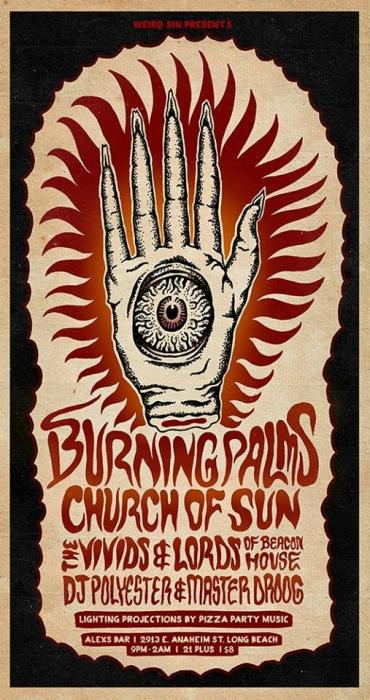 BURNING PALMS, CURCH OF SUN, THE VIVIDS, LORDS OF BEACON HOUSE