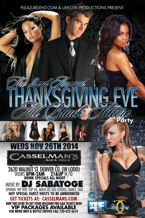 The 2nd Annual Thanksgiving Eve All Black Attire Party
