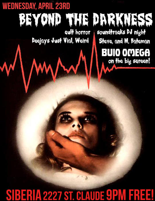 Beyond the Darkness: Cult Horror/Soundtrack Night with DJs Just Vial, Weird Steve, and Michael Bateman