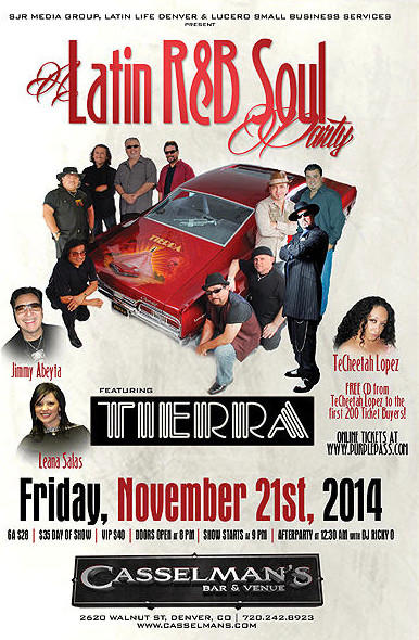 A Latin R&B Soul Party Tierra Live!