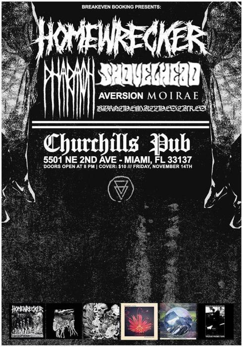 Homewrecker / Pharoah / Shovelhead / Aversion / Moirae / Burn Them At The Stakes