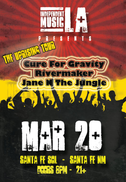 Cure For Gravity, Rivermaker, and Jane N The Jungle.