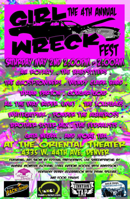 4th Annual Girl Wreck Fest with 20 bands on 2 stages!