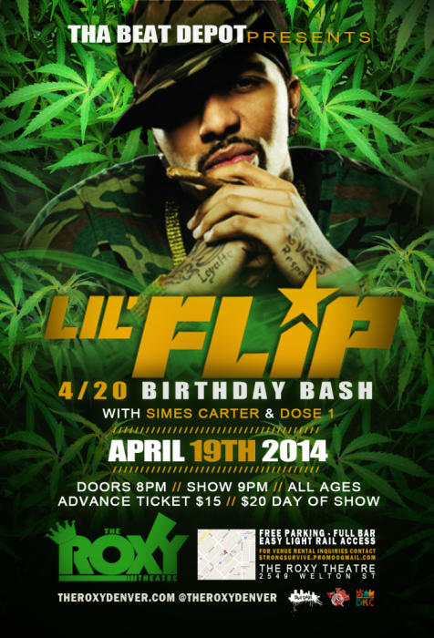 Lil Flip 4/20 B-Day Bash
