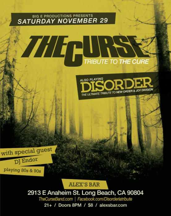 THE CURSE (TRIBUTE TO THE CURE), DISORDER (TRIBUTE TO NEW ORDER/ JOY DIVISION)