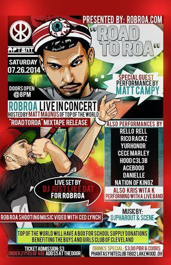 ROAD TO ROA Feat. ROBROA LIVE IN CONCERT WITH GUEST PERFORMANCE BY MATT CAMPY HOSTED BY MATT MAUNUS of Top Of The World