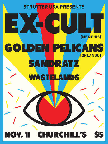 EX-CULT, The Golden Pelicans, SANDRATZ, Wastelands