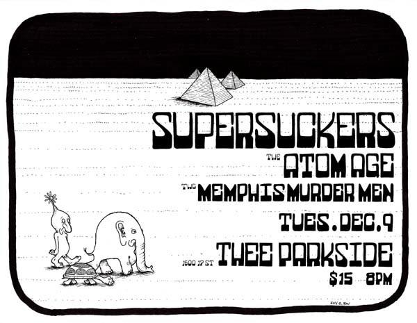 Supersuckers, The Atom Age, The Memphis Murder Men
