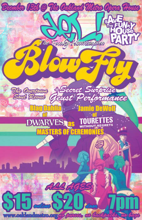 Del the Funky Homosapien & Blowfly at Oakland Metro