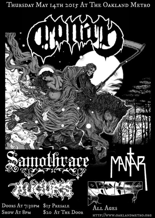 CONAN (England) / SAMOTHRACE (Washington) / MANTAR (Germany) / AUGURS / WORSHIP