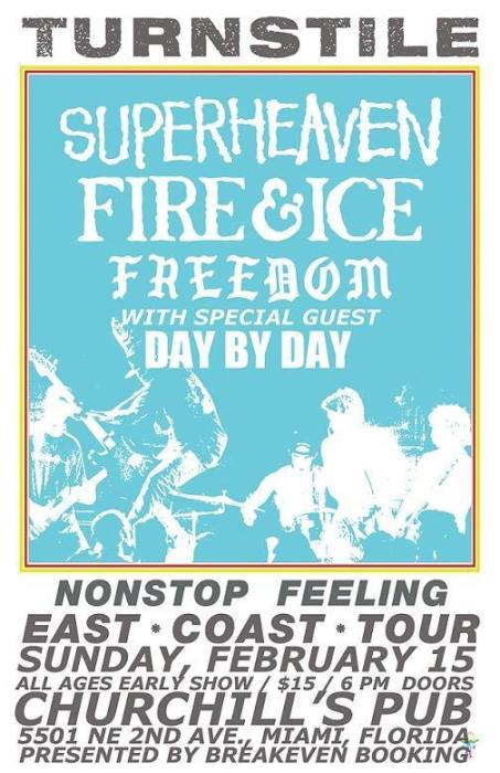 Turnstile, Superheaven, Freedom, True Love, Day By Day