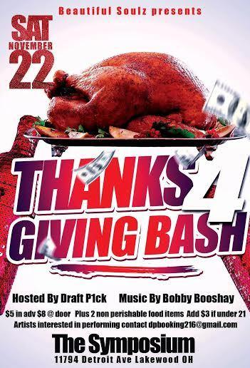 BEAUTIFUL SOULZ PRESENTS THANKS GIVING BASH!