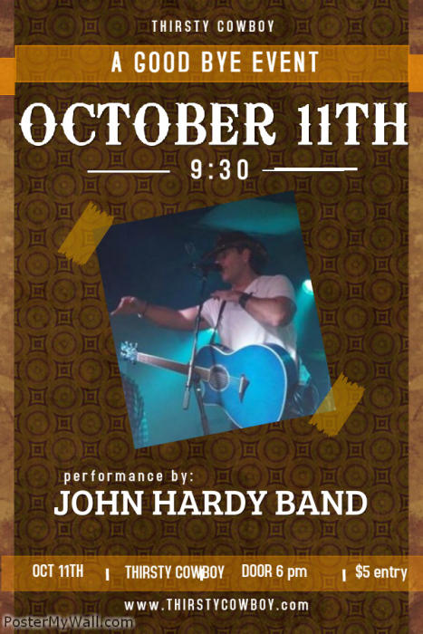 John Hardy Band Good Bye Party