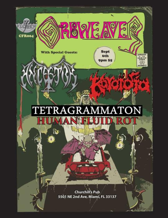 Orbweaver, Ancestor, Koroidia, Tetragrammaton, & Human Fluid Rot