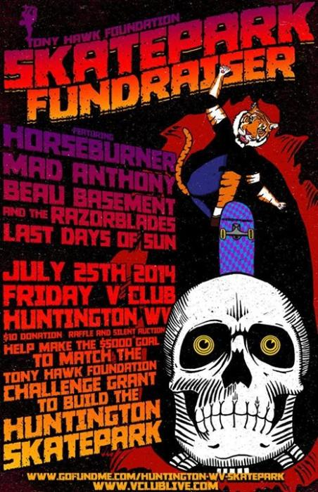 Skatepark Fundraiser W/ Horseburner / Mad Anthony / Beau Basement & The Razorblades / Last Days Of Sun