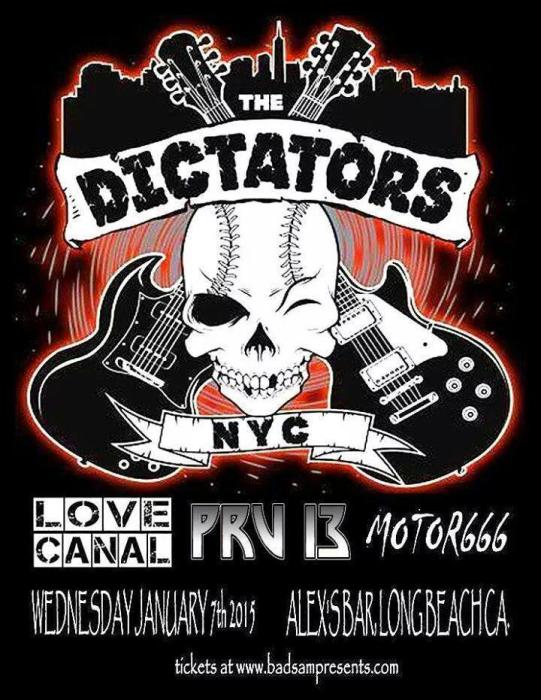 THE DICTATORS NYC, LOVE CANAL, PRV 13, MOTOR666