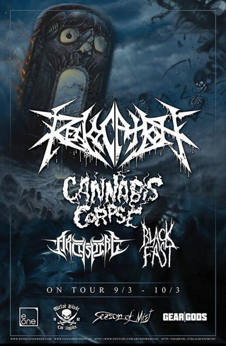 Revocation, Cannabis Corpse, Archspine, Black Fast, Anisoptera