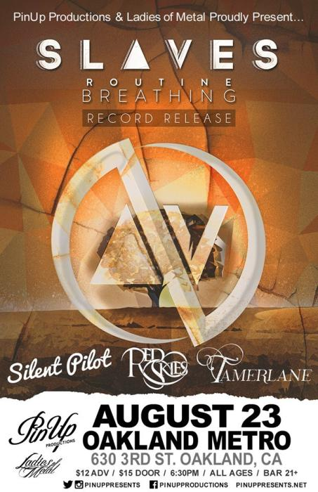 """SLAVES """"Routine Breathing"""" Record Release Show w/ Silent Pilot, Red Skies *Debut Show* & Tamerlane"""