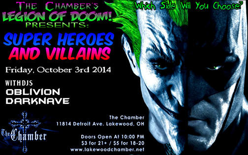 THE CHAMBER LEGION OF DOOM PRESENTS! SUPER HEROES AND VILLAINS