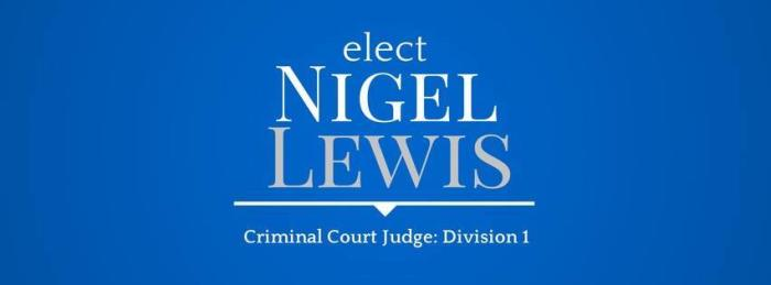 Nigel Lewis for Judge Fundraiser with music by James Ray & Friends