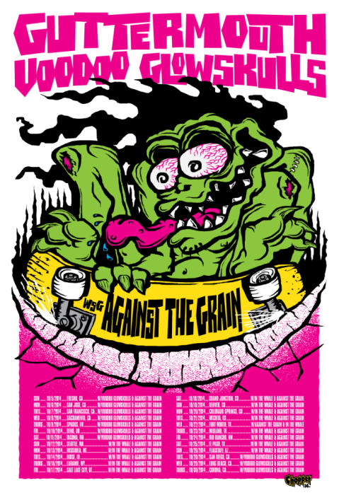 GUTTERMOUTH, VOODOO GLOWSKULLS, AGAINST THE GRAIN, & THE DECLINE