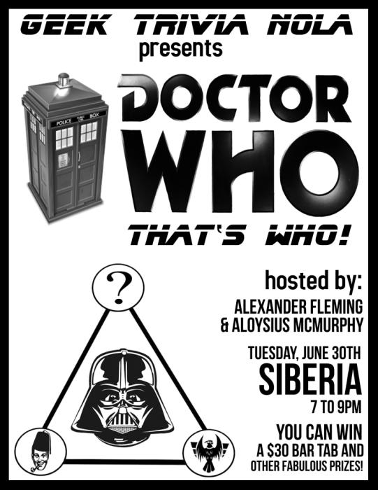 GEEK TRIVIA presents DR. WHO THAT