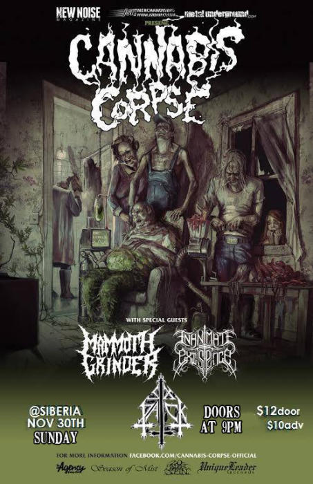 Cannabis Corpse | Mammoth Grinder | Inanimate Existance | Six Pack
