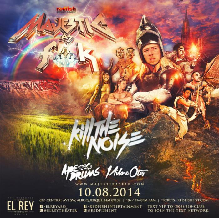 Majestik As Fak Tour feat Kill The Noise, Milo & Otis, and Ape Drums in Concert