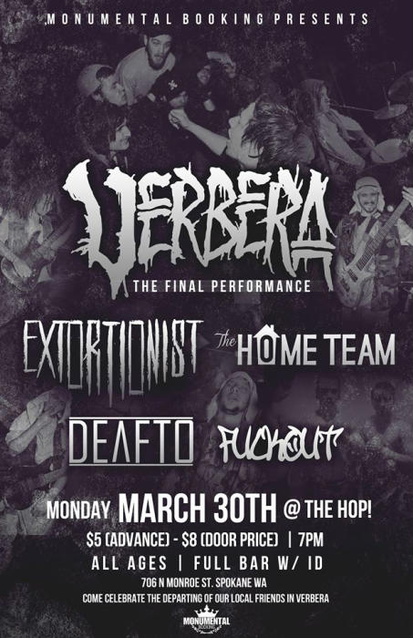 Verbera *show moved to The Hop*