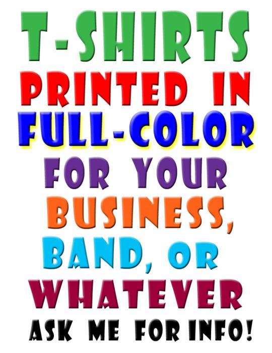 Full-Color Shirt Printing