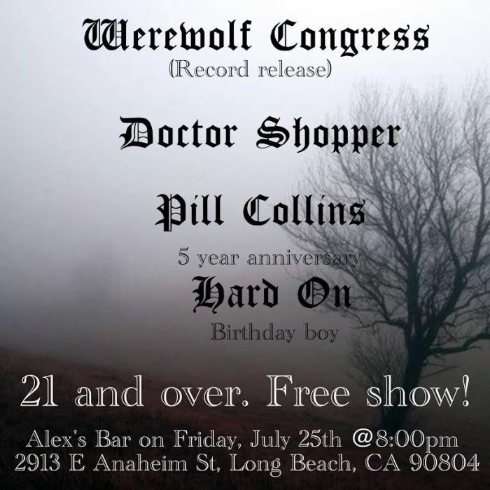 WEREWOLF CONGRESS (RECORD RELEASE), DOCTOR SHOPPER, PILL COLLINS, HARD ON