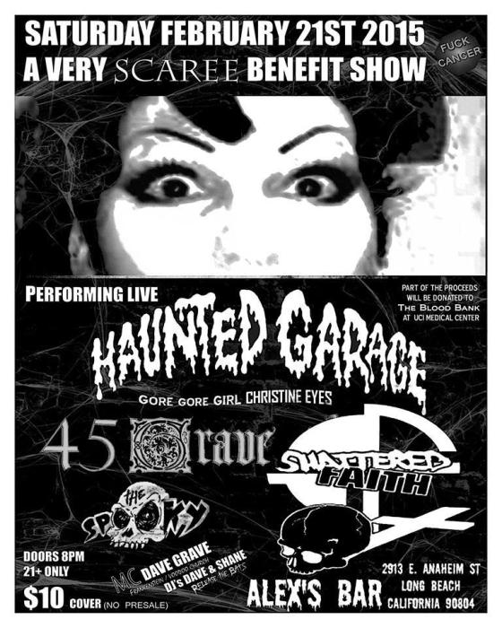 45 GRAVE, HAUNTED GARAGE, SHATTERED FAITH, THE SPOOKY, PSYCHO CHARGER