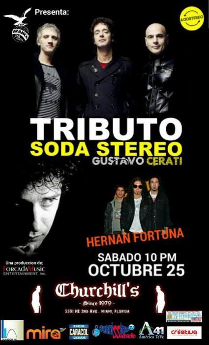 Este Sabado 25 de Octubre se presentara el Tributo oficial de uno de Los mas grandes del Rock, !!GUSTAVO CERATI!! SODA STEREO.