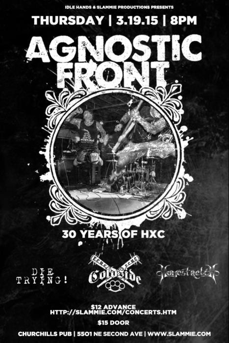 Agnostic Front, Coldside, and more tba!