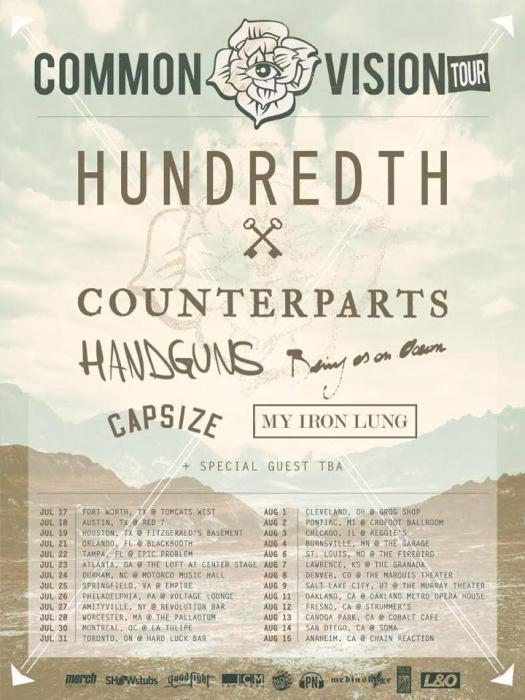 Hundredth / Counterparts / Handguns / Being as an Ocean / Forever Came Calling / Capsize / My Iron Lung