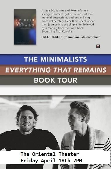The Minimalists' Everything That Remains book-tour