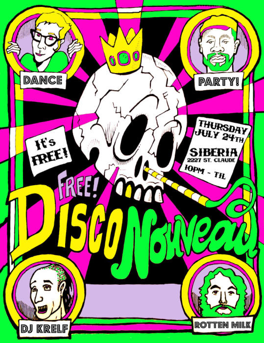 Disco Nouveau Dance Party: DJs Rotten Milk and Krelf